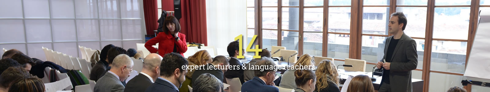 14 expert lecturers