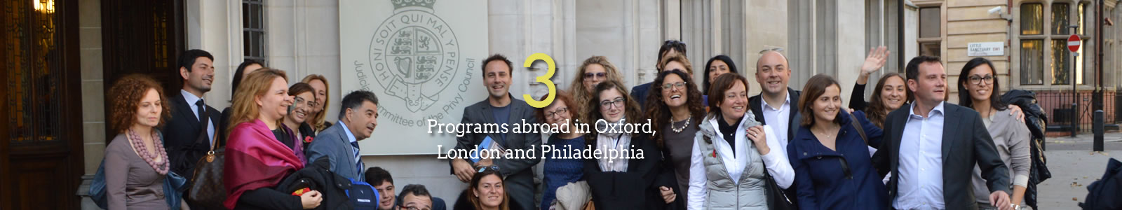 3 Programs abroad in Oxford, London and Philadelphia